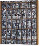 Letterpress Alphabet Wood Print