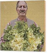 Lettuce Harvest Wood Print