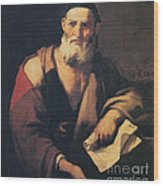 Leucippus, Ancient Greek Philosopher Wood Print