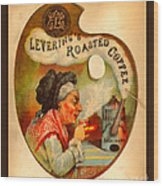 Levering's Roasted Coffee Wood Print