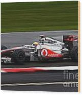 Lewis Hamilton Silverstone 2011 Wood Print