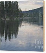 Lewis Lake With Waterfowl Wood Print