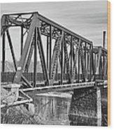 Lewiston-auburn Railroad Bridge Wood Print