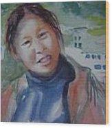 Lhamo-la Wood Print