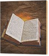 Liber Scientiae The Book Of Knowledge Wood Print
