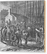 Liberating Slaves, 1864 Wood Print