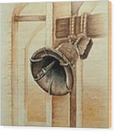 Liberty Bell Wood Print by Lena Day