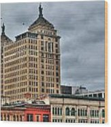 Liberty Building And Hotel Lafayette Wood Print