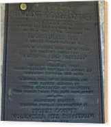Liberty Engine Company Wood Print