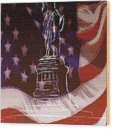 Liberty For All Wood Print