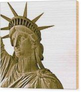 Liberty Up Close Wood Print