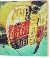 Licensed Pig Wood Print