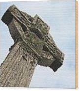 Lichen Cross Wood Print