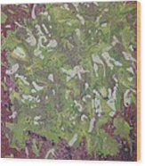 Lichen On Tree Bark-ppml0014 Wood Print