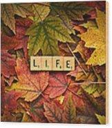 Life-autumn Wood Print