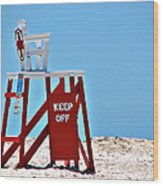 Life Guard Stand Wood Print
