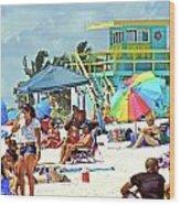 Life Is A Beach Wood Print by Dieter  Lesche