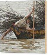 Life On Lake Tonle Sap 3 Wood Print