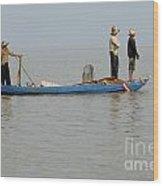 Life On Lake Tonle Sap 5 Wood Print