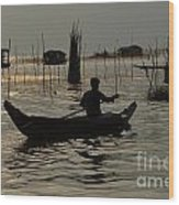 Life On Lake Tonle Sap 7 Wood Print