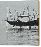 Life On Lake Tonle Sap  Wood Print