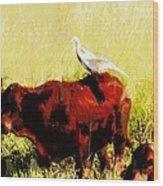 Life On The Farm V4 Wood Print
