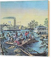 Life On The Mississippi, 1868 Wood Print
