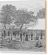 Life-sized Chess, 1882 Wood Print