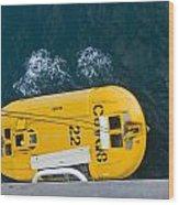 Lifeboat Splash Wood Print