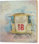Lifeguard Post No 6b Hookipa State Park Wood Print