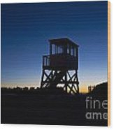 Lifeguard Stand At Dawn Wood Print