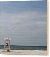 Lifeguard Station 2 Wood Print