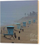 Lifeguard Stations Wood Print