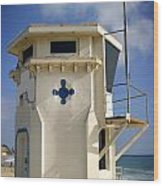 Lifeguard Tower Wood Print