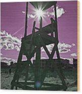 Lifeguard Tower II Wood Print