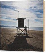 Lifeguard Tower Newport Beach California Wood Print by Paul Velgos