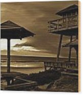 World War II Coastal Watchtower Wood Print