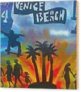 Life's A Beach Wood Print by Tony B Conscious