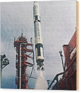 Lift-off Of Gemini-titan 11, Cape Wood Print