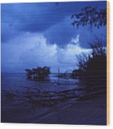 Lifting Storm Wood Print