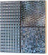 Light Blue And Brown Textural Abstract Wood Print