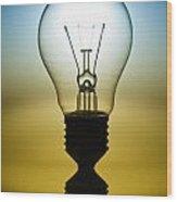 Light Bulb Wood Print by Setsiri Silapasuwanchai