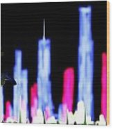 Light City Wood Print