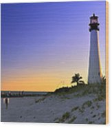 Light House Wood Print by Andres LaBrada