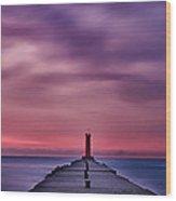 Light House Hdr Wood Print