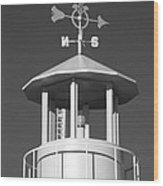 Light House On Coney Island In Black And White  Wood Print