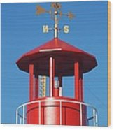 Light House On Coney Island Wood Print
