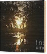 Light In Gold Wood Print