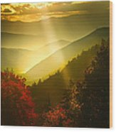 Light On The Moutain Wood Print