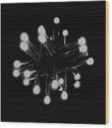 Light Tubes Wood Print by Chris Giles